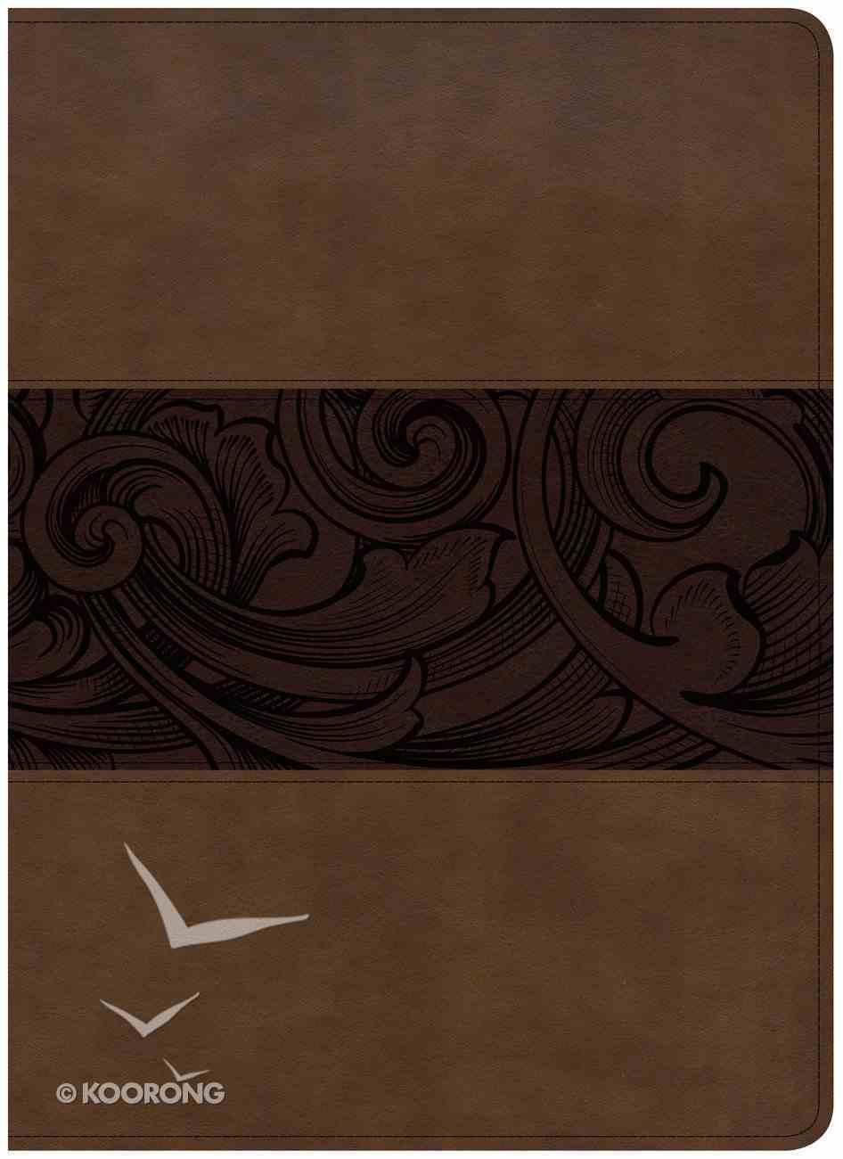 CSB Study Bible Mahogany Large Print Indexed Imitation Leather