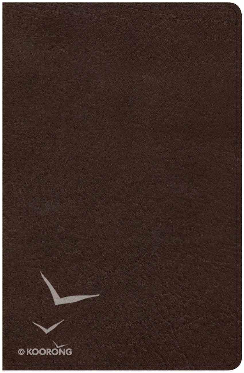 CSB Ultrathin Bible Brown (Red Letter Edition) Imitation Leather