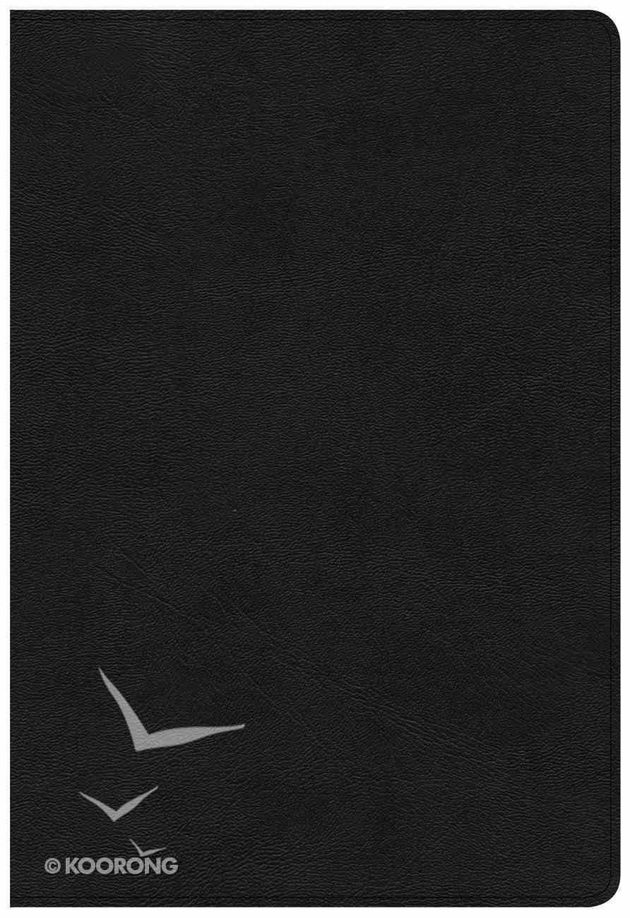 KJV Large Print Ultrathin Reference Bible Black (Black Letter Edition) Genuine Leather