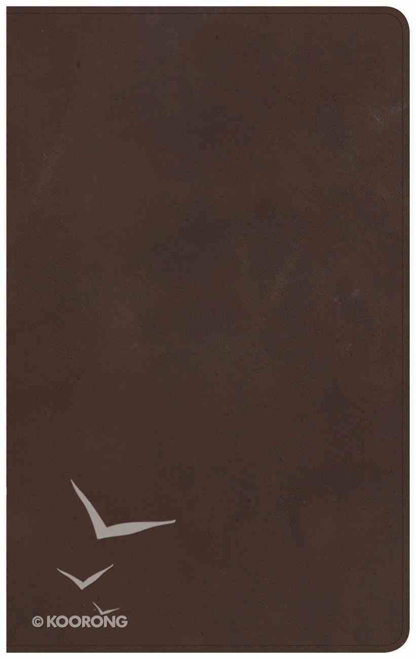 NKJV Ultrathin Reference Bible Brown Indexed Genuine Leather