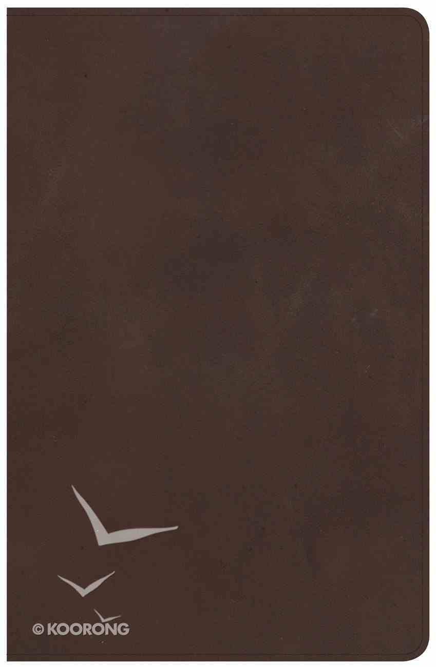 NKJV Large Print Personal Size Reference Bible Brown Red Letter Edition Genuine Leather