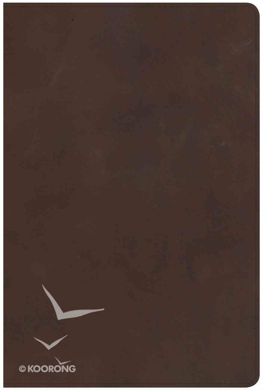 NKJV Giant Print Reference Bible Brown Red Letter Edition Genuine Leather