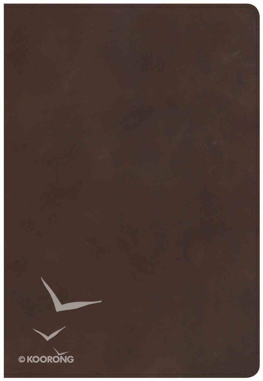 NKJV Super Giant Print Reference Bible Brown Red Letter Edition Genuine Leather