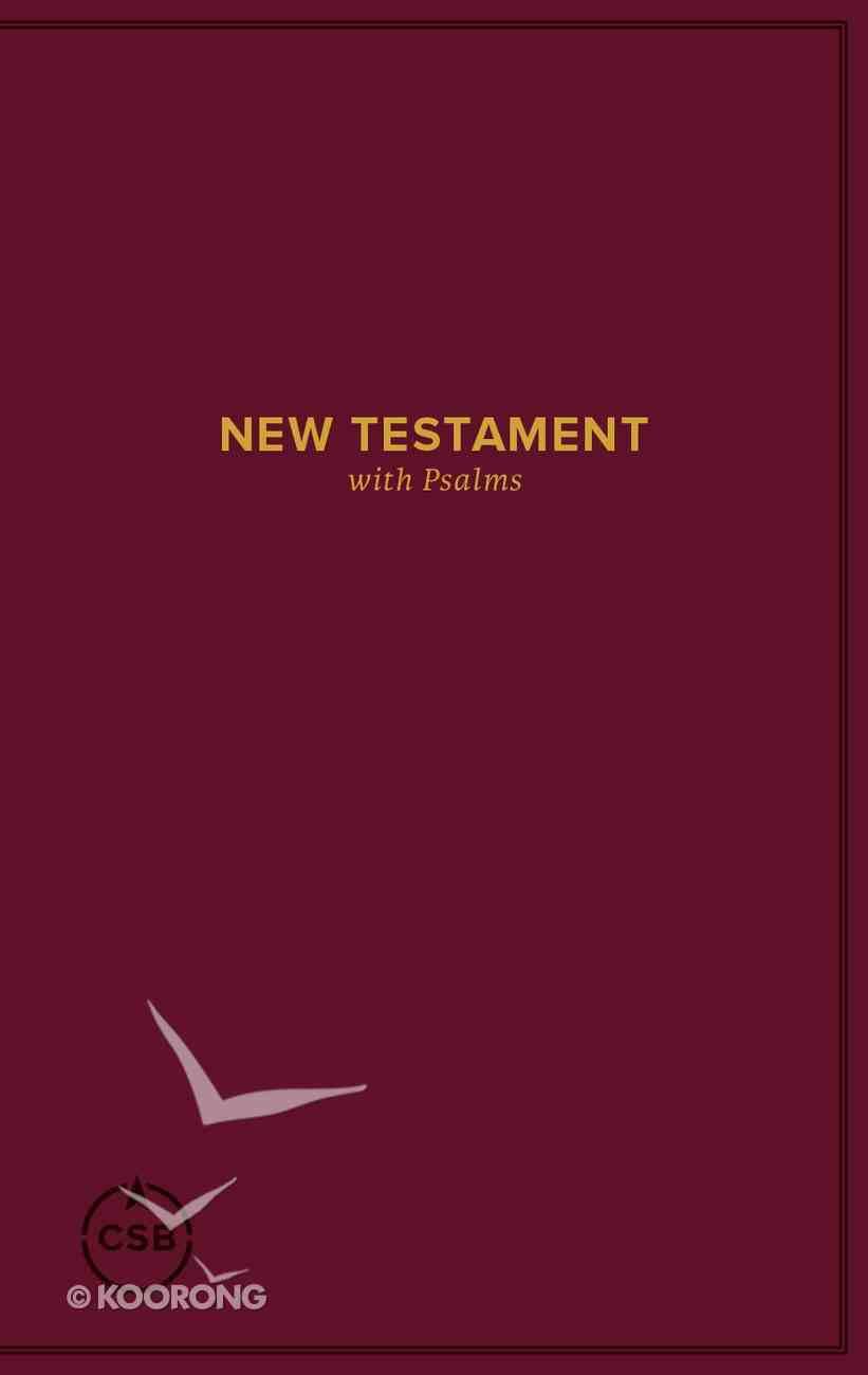 CSB Pocket New Testament With Psalms Burgundy Paperback