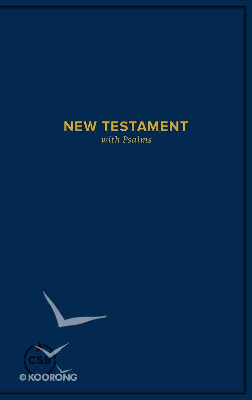 CSB Pocket New Testament With Psalms Navy Paperback