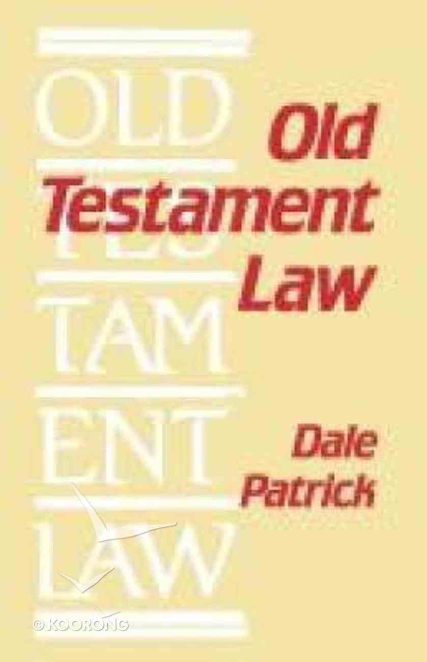 Old Testament Law Paperback