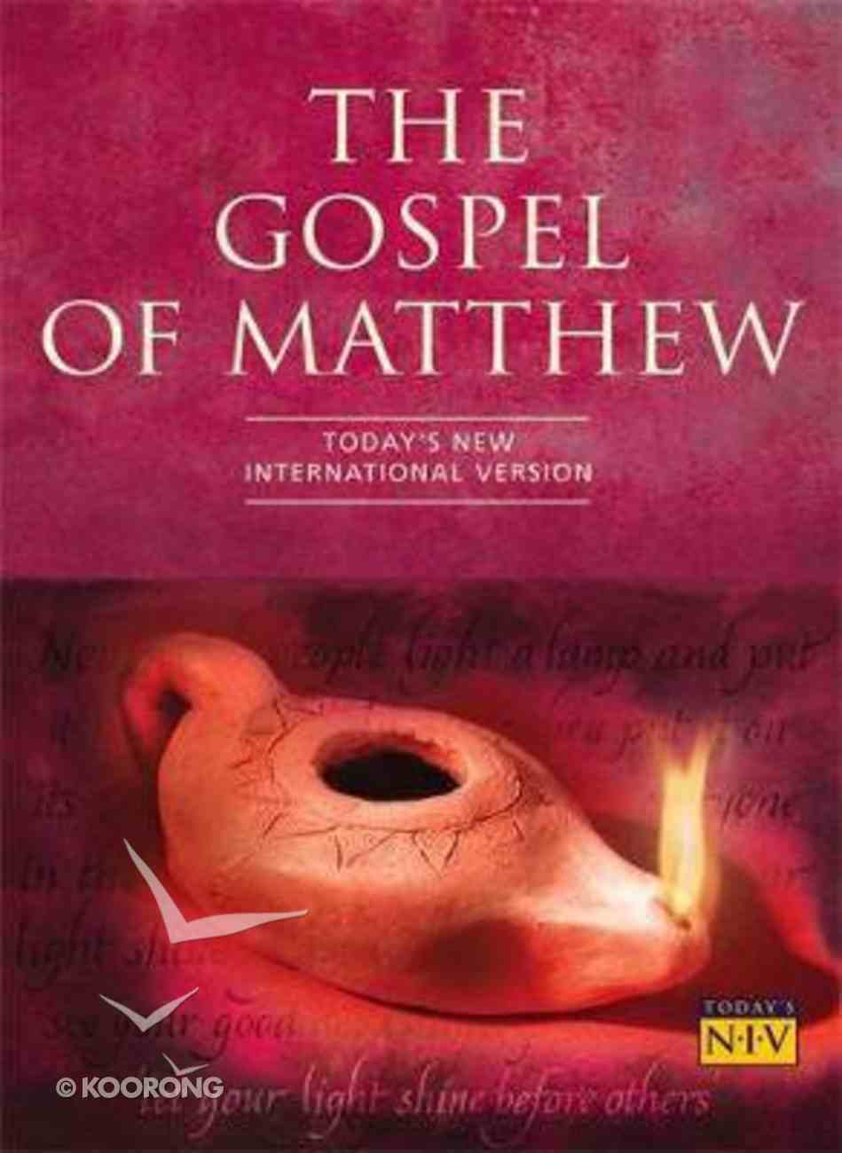 TNIV Gospel of Matthew Paperback