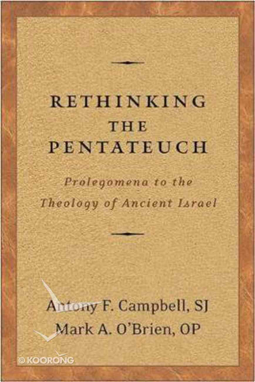 Rethinking the Pentateuch Paperback