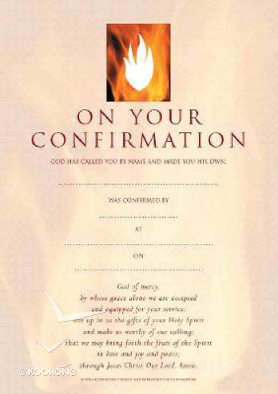 Confirmation Certificates (10 Pack) Pack