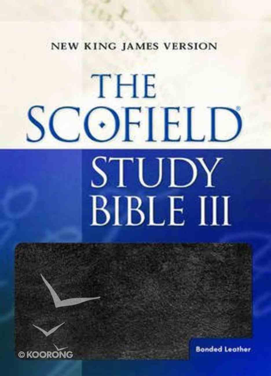 NKJV Scofield III Study Bible Black Bonded Leather