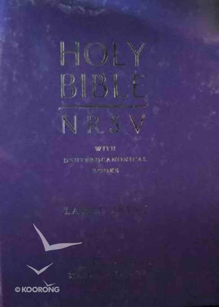 NRSV Holy Bible Large Print Blue With Deuterocanonical Books Hardback