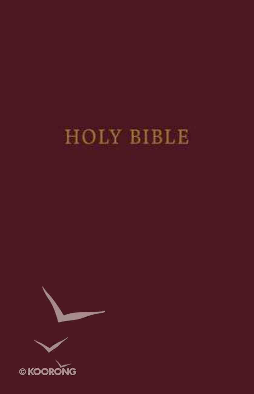 KJV Pew Bible Large Print Burgundy (Red Letter Edition) Hardback