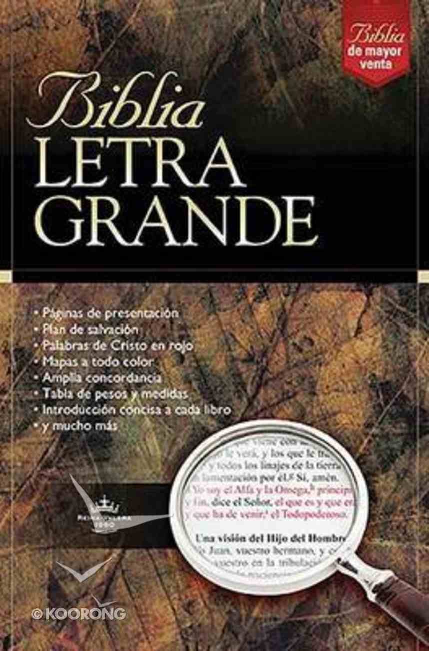Rvr 1960 Biblia Letra Grande Large Print Black (Red Letter Edition) (Spanish) Imitation Leather