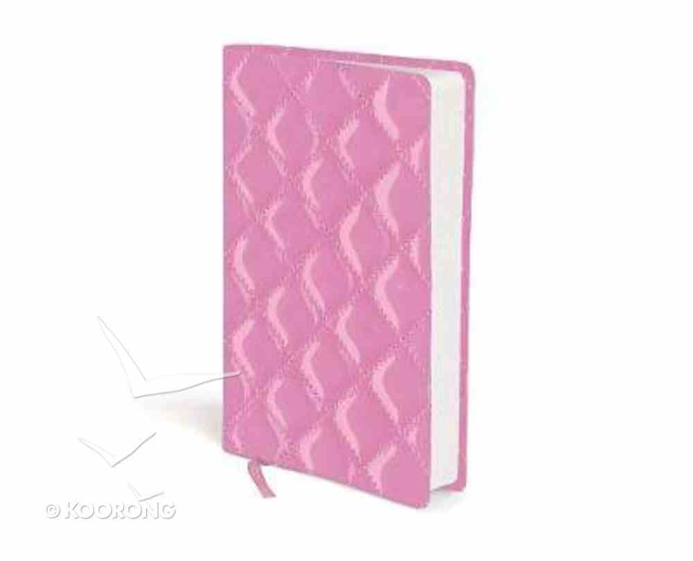 NIV Compact Quilted Bible Strawberry Cream Hardback