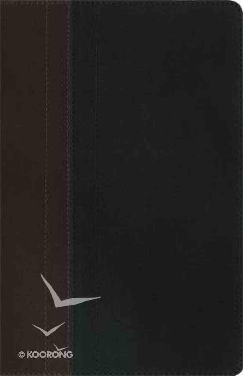 NIV Study Bible Chocolate/Black Duo-Tone Personal Size Imitation Leather