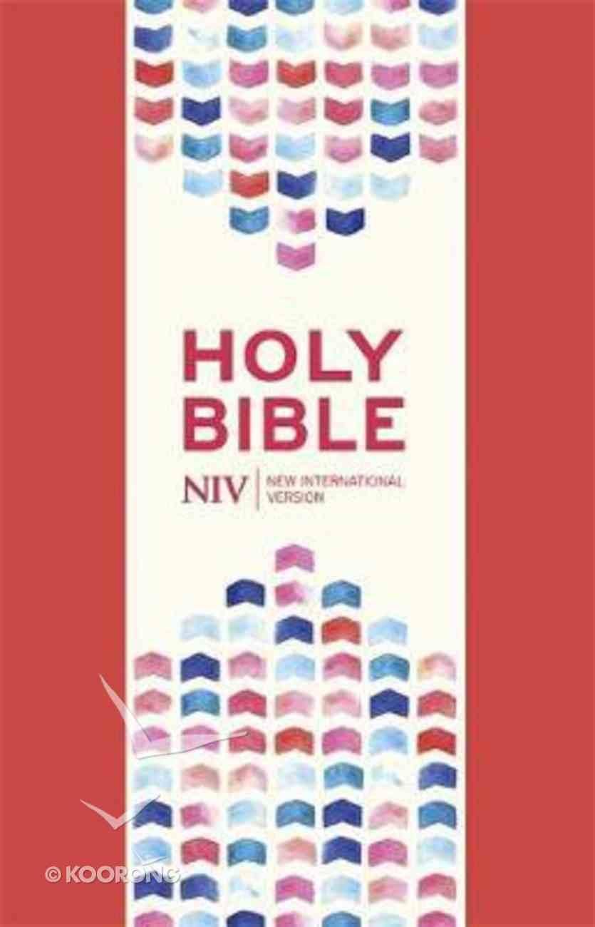 NIV Thinline Bible Coral Pink Soft-Tone With Zip Imitation Leather