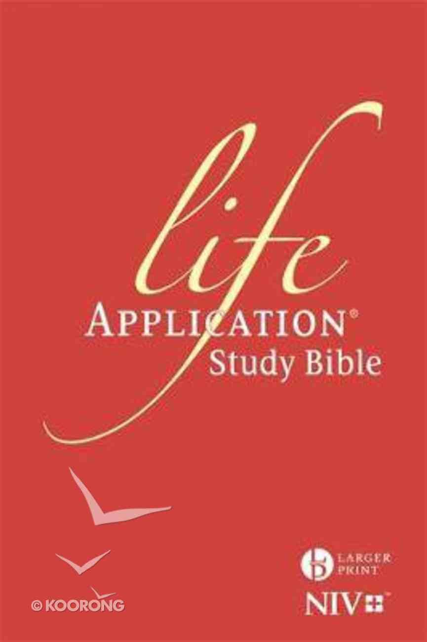 NIV Larger Print Life Application Study Bible Anglicised Hardback