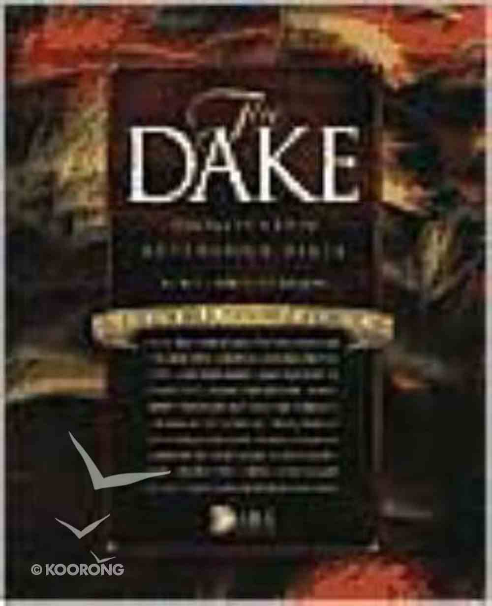 KJV Dake Annotated Reference Bible Large Print Bonded Leather