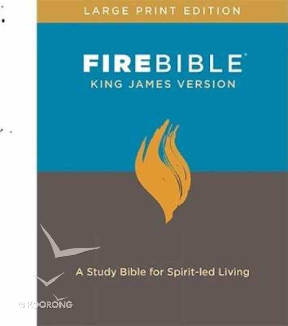 KJV Fire Bible Large Print Hardback