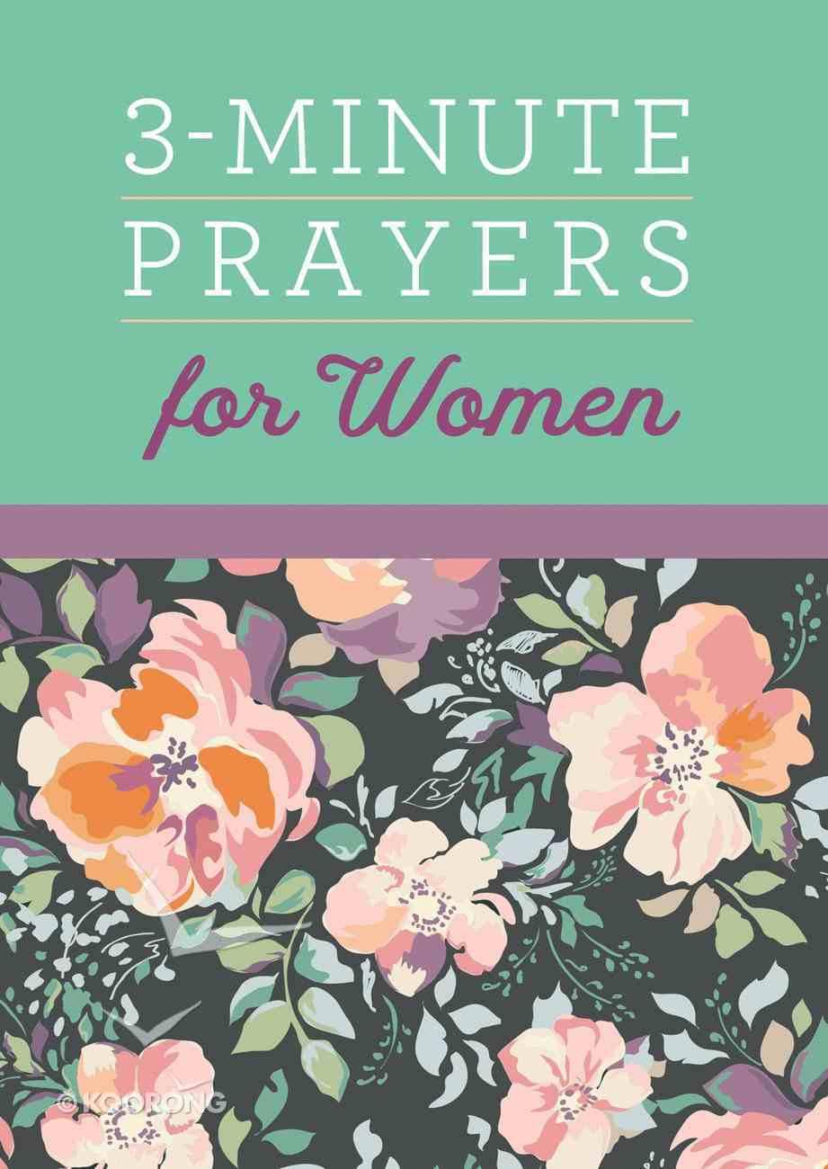 3-Minute Prayers For Women Paperback