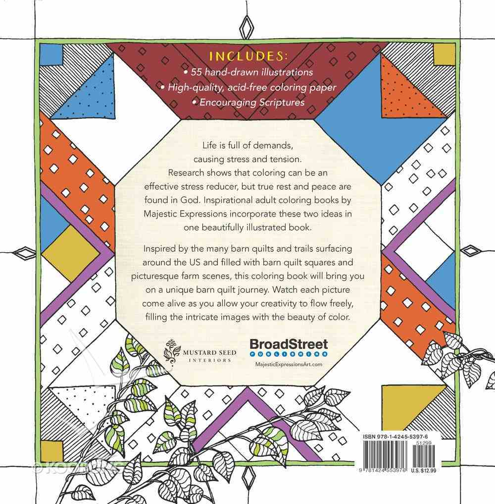 Barn Quilts (Majestic Expressions) (Adult Coloring Books Series) Paperback