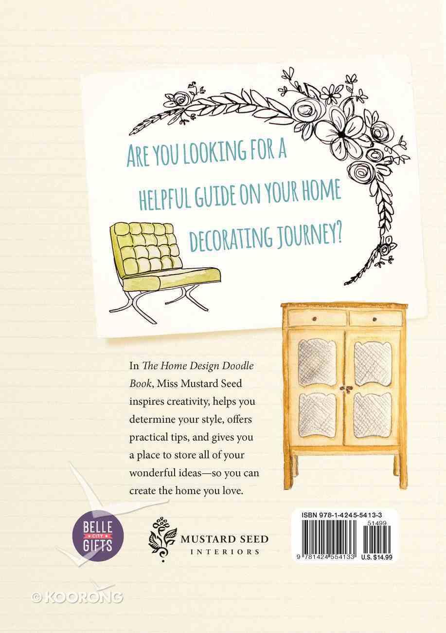 The Home Design Doodle Book: Unleash Your Inner Designer Hardback