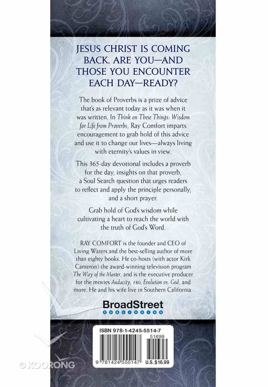 Think on These Things: Wisdom For Life From Proverbs Imitation Leather