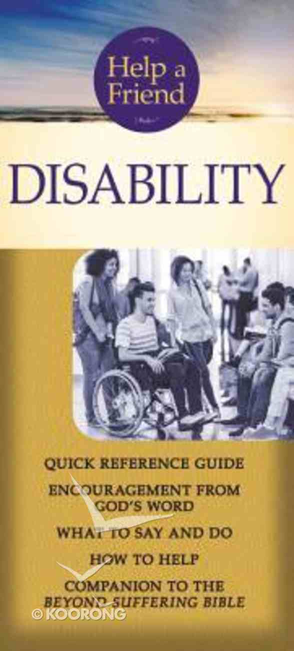 Help a Friend: Disability (Rose Guide Series) Pamphlet