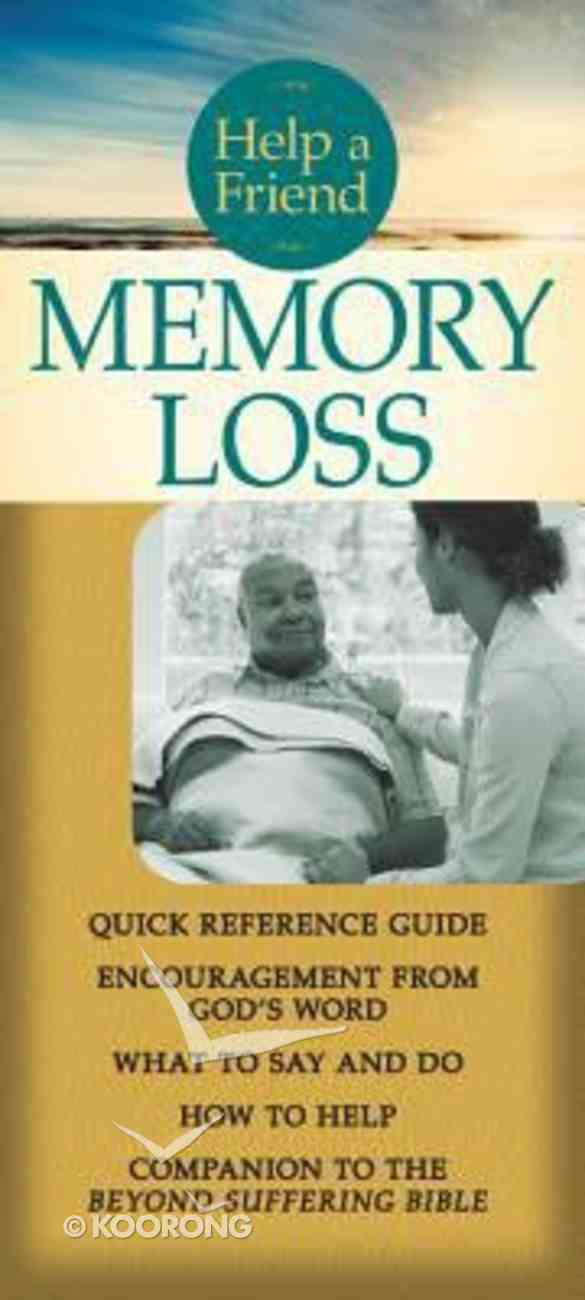 Help a Friend: Memory Loss (Rose Guide Series) Pamphlet