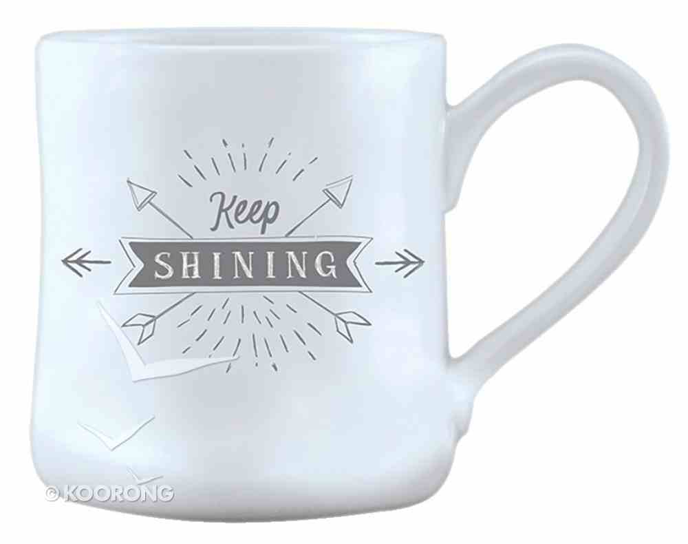 Hand Thrown Ceramic Mug: Keep Shining, Matthew 5:14 Homeware