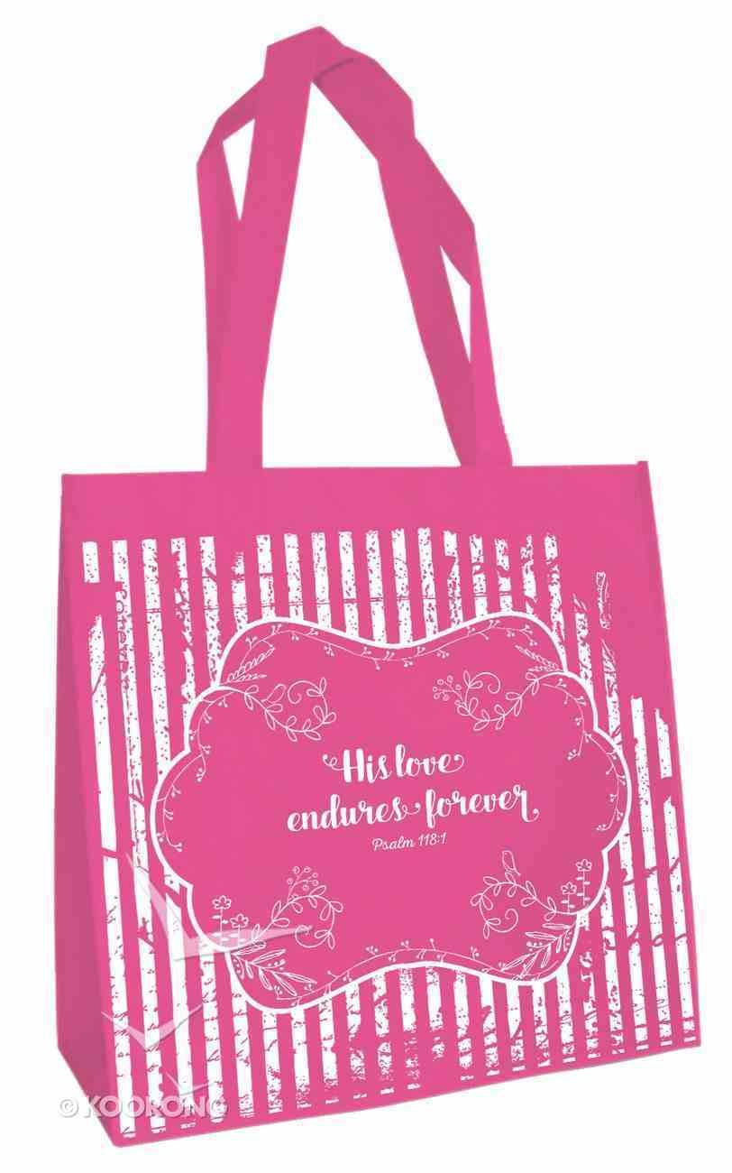 Tote Bag: His Love Endures (Dark Pink) Soft Goods