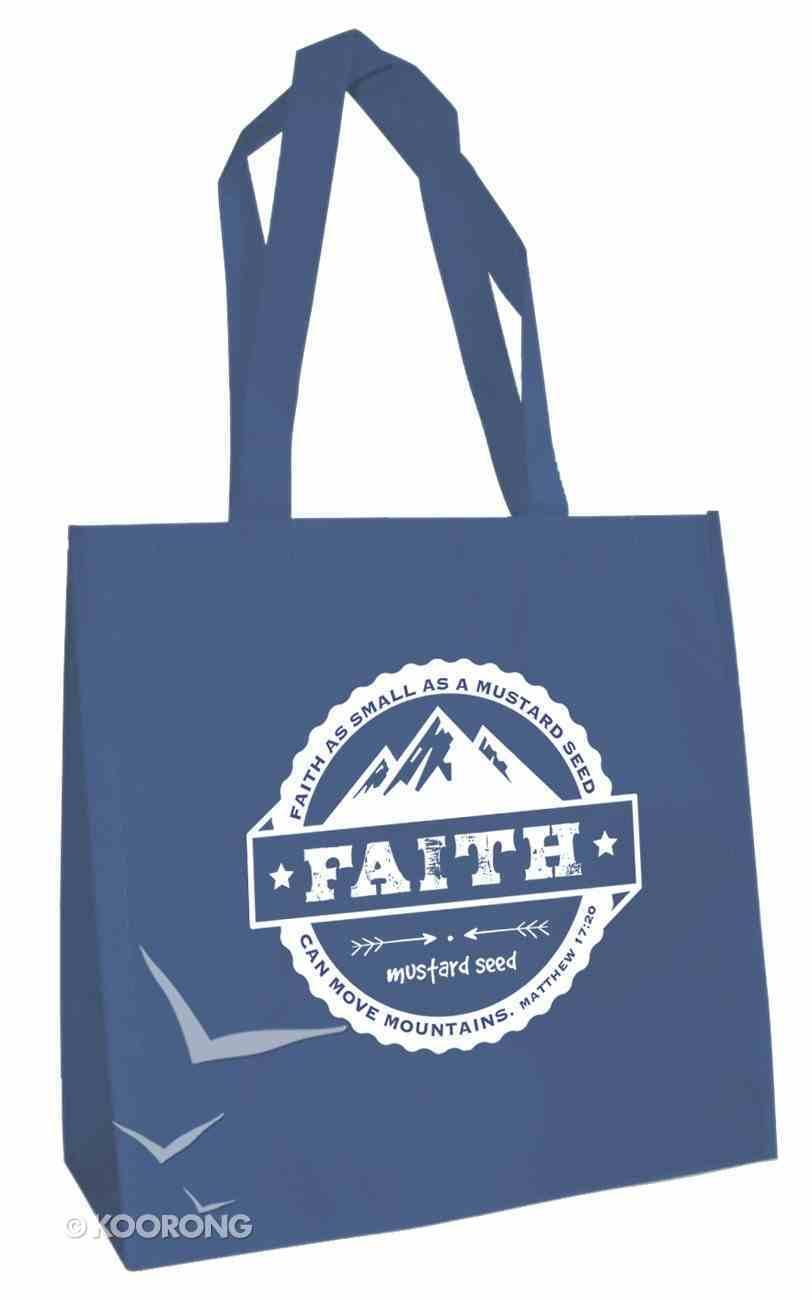 Tote Bag: Faith....Mustard Seed (Blue) Soft Goods