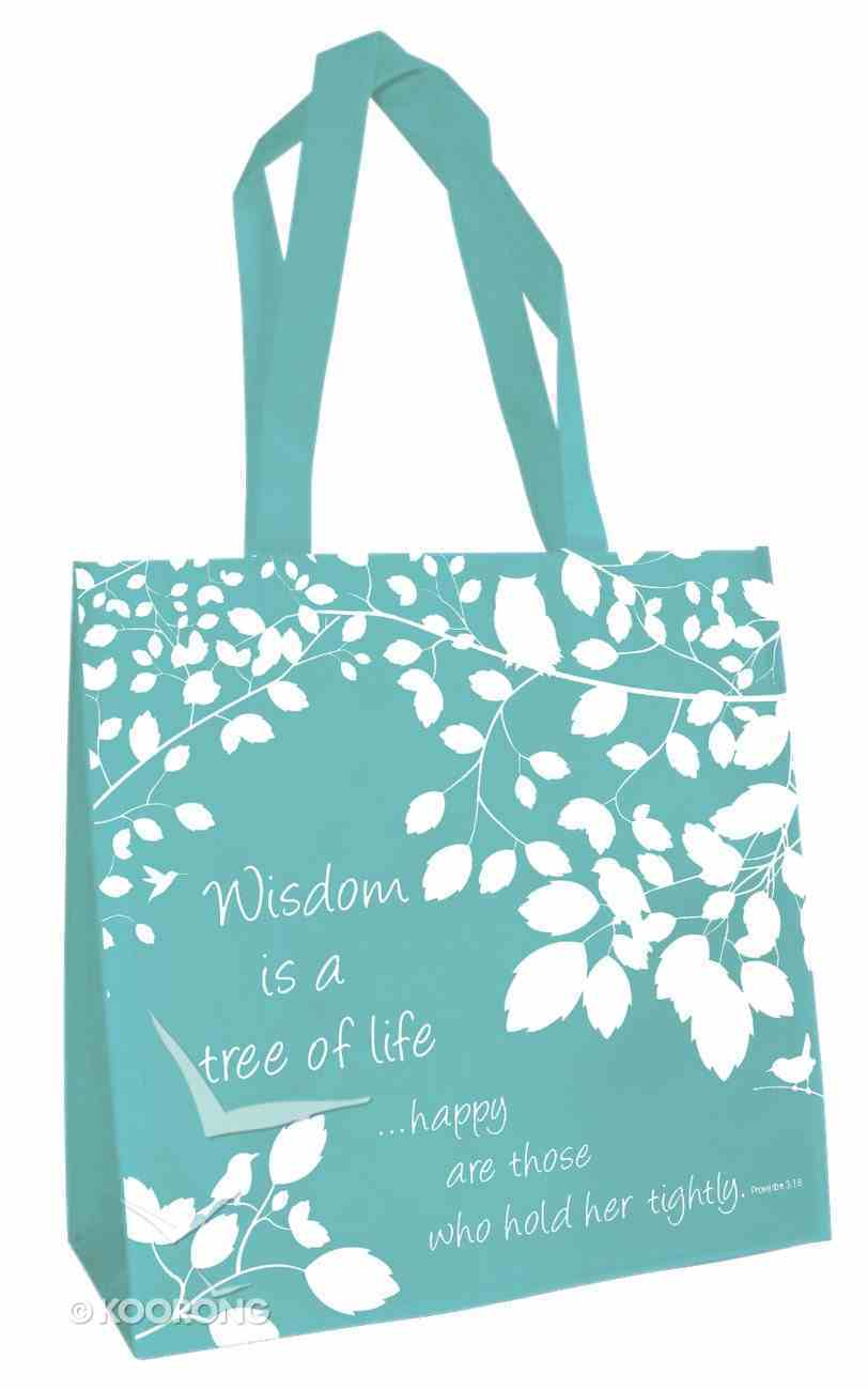 Tote Bag: Wisdom is a Tree of Life... (Teal) Soft Goods