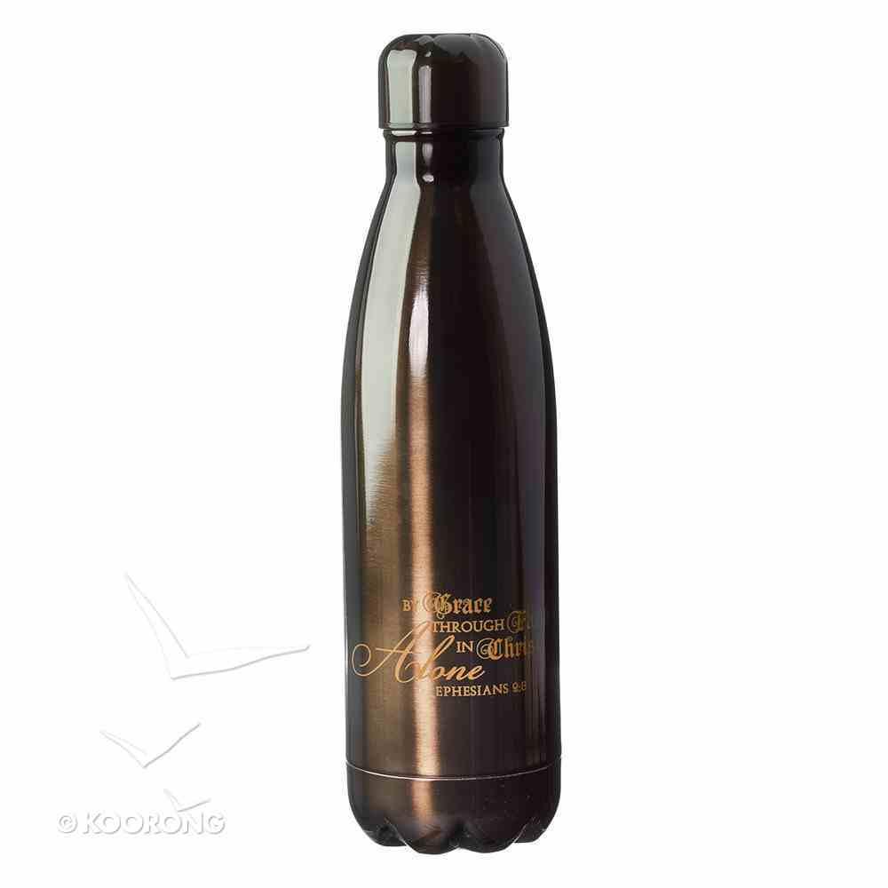 Water Bottle 500ml Stainless Steel: In Christ Alone Bronze Homeware