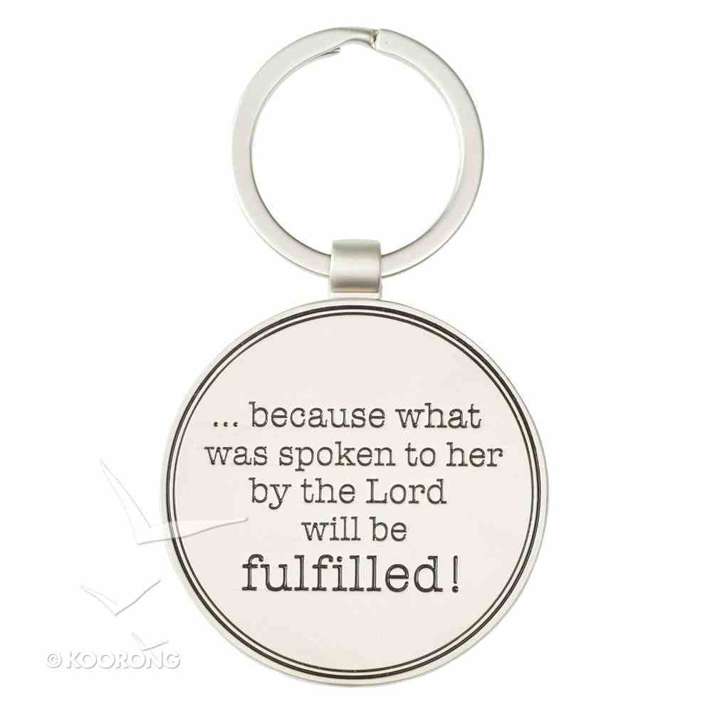 Metal Keyring: Blessed is She Who Believes, Floral, Blessings From Above Collection Jewellery