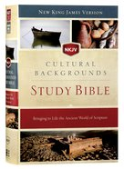NKJV Cultural Backgrounds Study Bible (Red Letter Edition) Hardback
