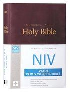 NIV Value Pew and Worship Bible Burgundy (Black Letter Edition) Hardback