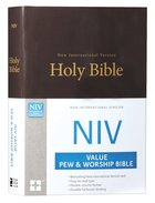 NIV Value Pew and Worship Bible Brown (Black Letter Edition) Hardback