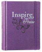 NLT Inspire Praise Bible Purple (Black Letter Edition) Imitation Leather