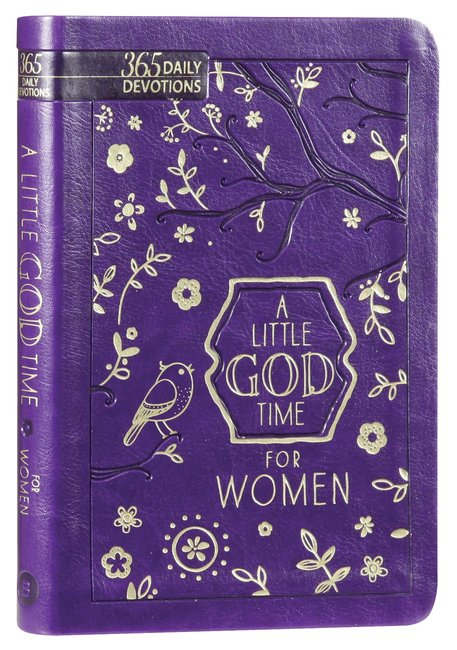 Product: Little God Time For Women, A: 365 Daily Devotions (Purple) Image