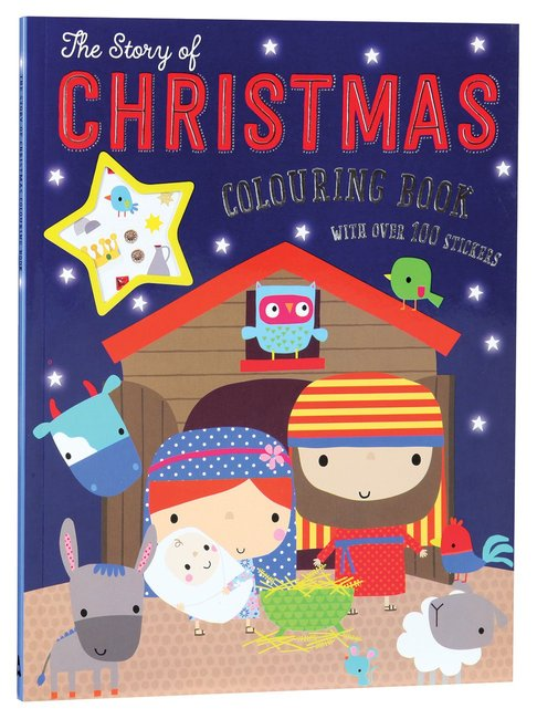 Product: Story Of Christmas Colouring Book, The (With Over 100 Stickers) Image
