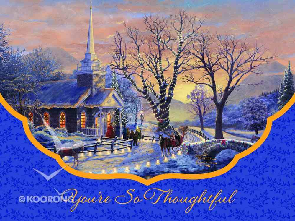 Christmas Blank Packaged Notes: You're So Thoughtful (Eph 1:16 Nlt) Cards