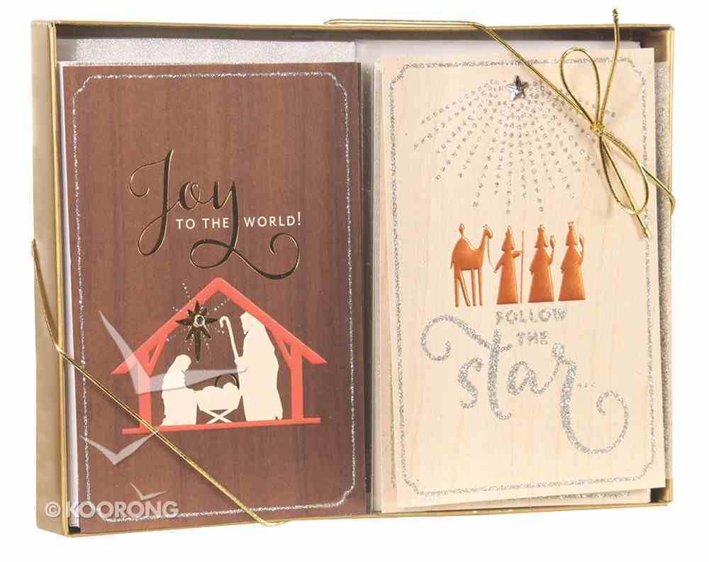 Christmas Dual Pack Boxed Cards: Joy to the World (Luke 2:10 Kjv) Cards