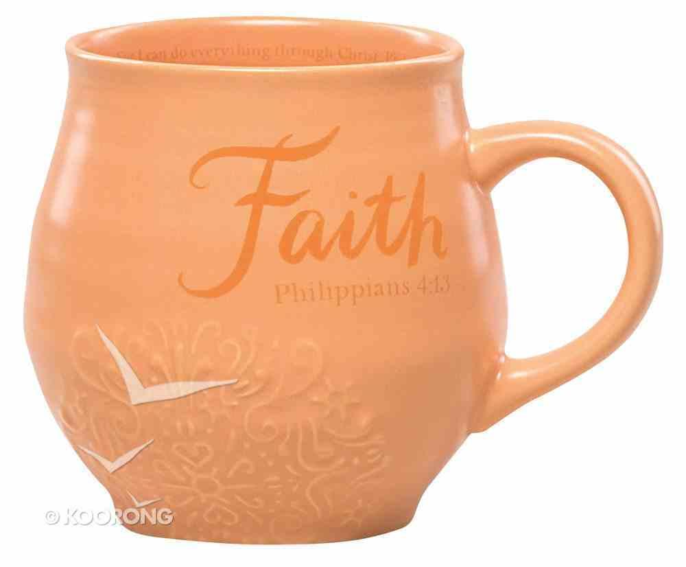 Ceramic Stoneware Mug: Faith Orange (Phil 4:13) Homeware