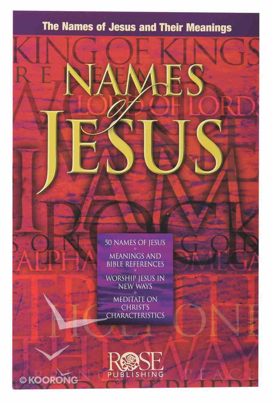 Names of Jesus (Rose Guide Series) Pamphlet