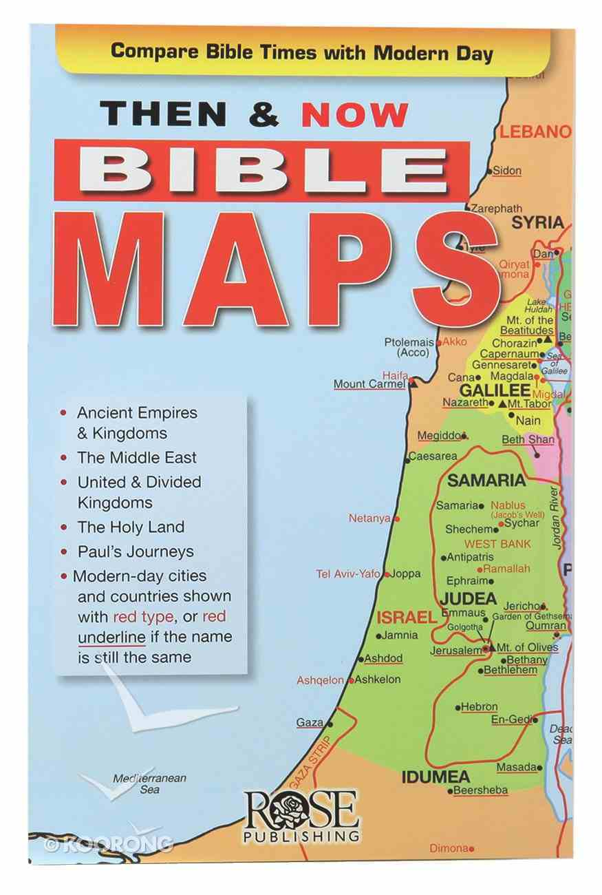 Bible Maps (Then And Now Series) Pamphlet