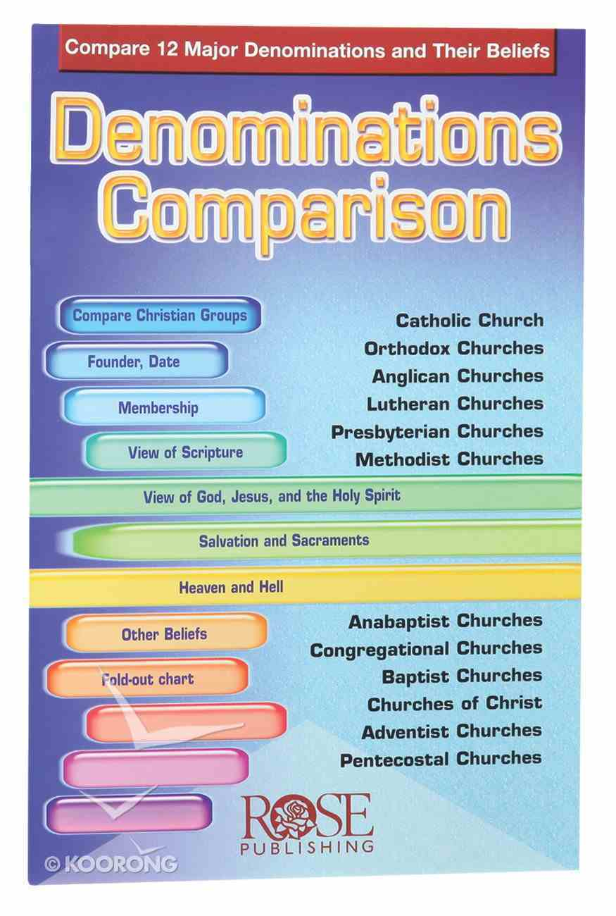 Denominations Comparison (Rose Guide Series) Pamphlet