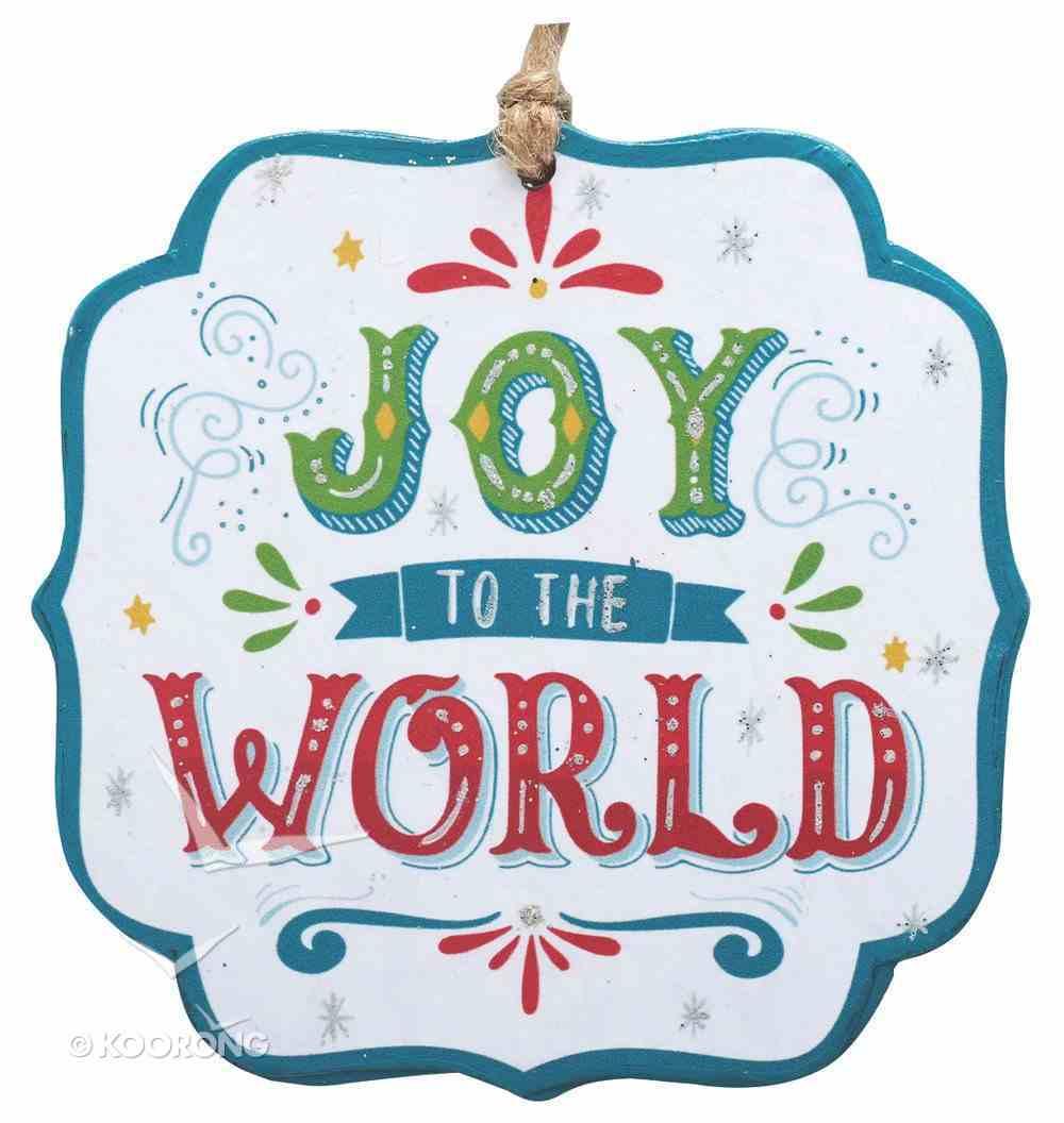 Christmas Ornament: Joy to the World Homeware