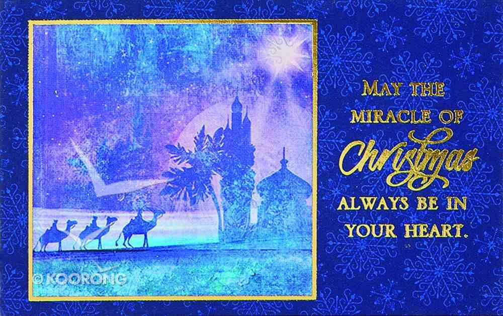 Christmas Pass-Around Cards: Miracle (Pk 25) (John 3:16) Cards