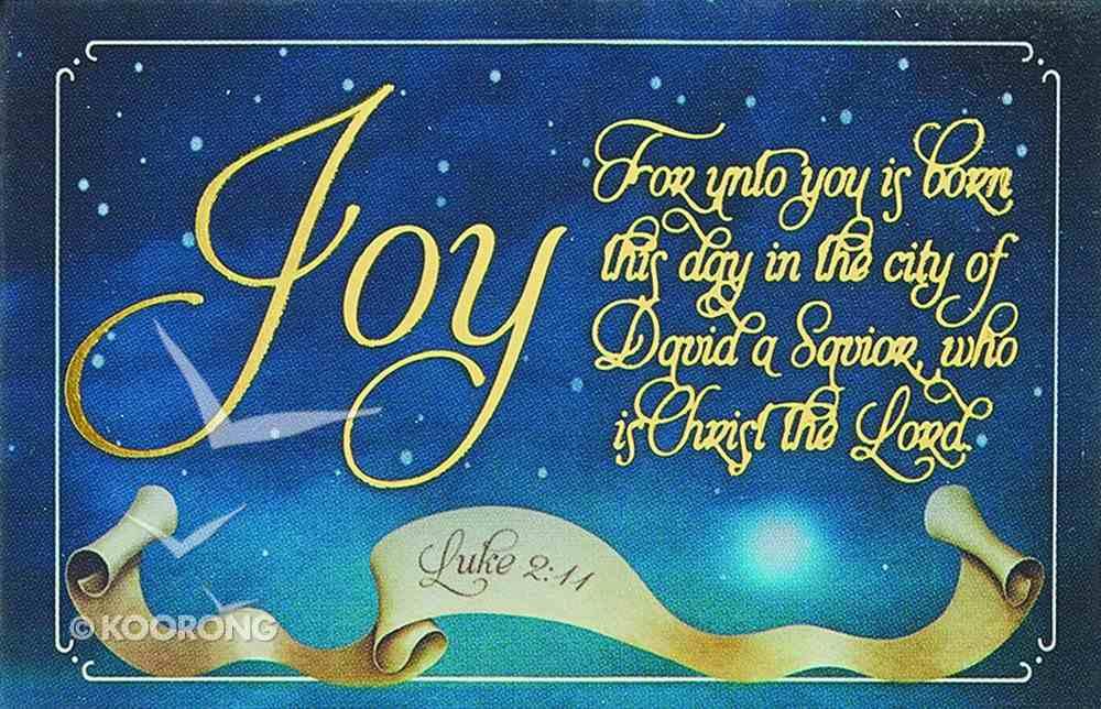 Christmas Pass-Around Cards: Unto You is Born (Pk 25) (Luke 2:11) Cards